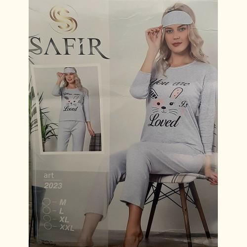 Женская пижама Safir Loved 2023 Турция 3в1